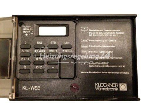 Klöckner KL-WSB Steuerung Regelung