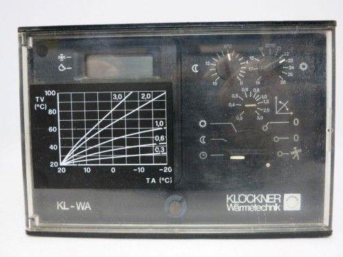 Klöckner KL-WA Steuerung Regelung